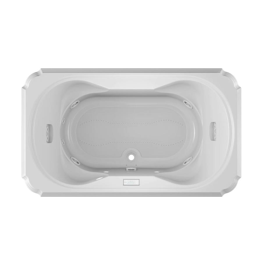 Shop Jacuzzi Marineo 72 In White Acrylic Drop In Whirlpool