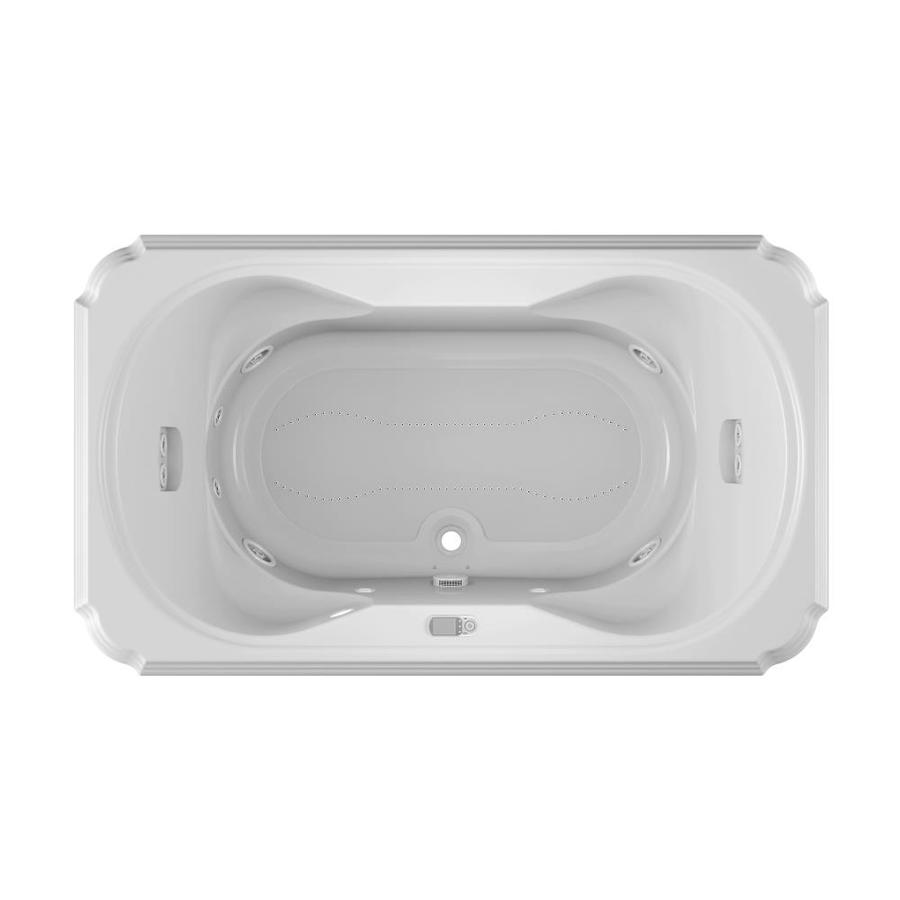 Jacuzzi Marineo 72-in White Acrylic Drop-In Whirlpool Tub And Air Bath with Center Drain