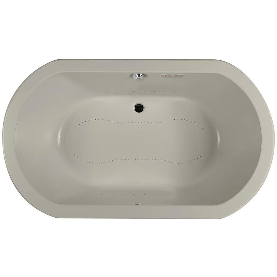 Jacuzzi Anza 72-in L x 42-in W x 26-in H Oyster Acrylic 2-Person Oval Drop-in Air Bath
