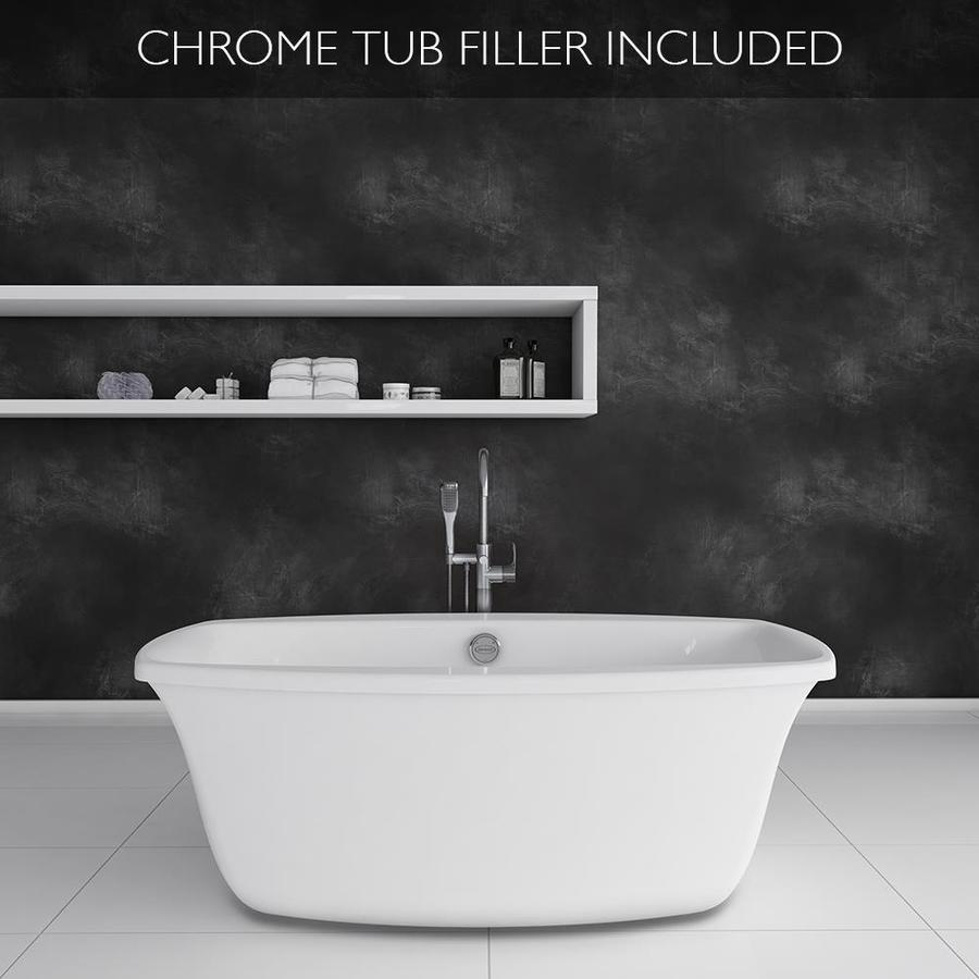 Shop Jacuzzi Primo 66-in White Acrylic Oval Center Drain Bathtub ...
