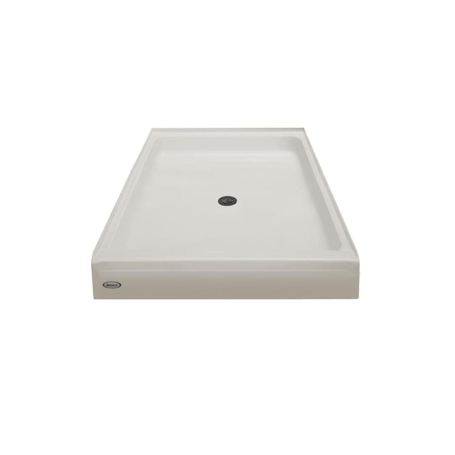 Jacuzzi Primo Oyster Acrylic Shower Base (Common: 42-in W x 36-in L; Actual: 42-in W x 36-in L)