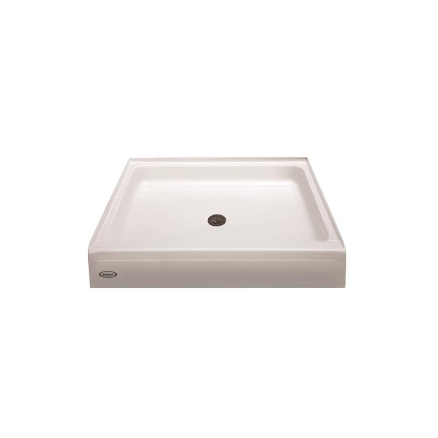 Jacuzzi PRIMO White Acrylic Shower Base (Common: 42-in W x 42-in L; Actual: 42-in W x 42-in L) with Center Drain