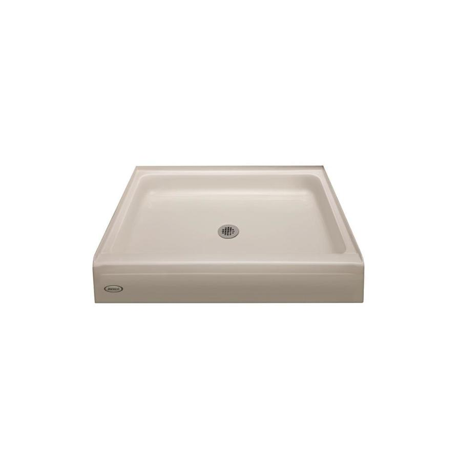 Jacuzzi Primo Oyster Acrylic Shower Base (Common: 42-in W x 42-in L; Actual: 42-in W x 42-in L)
