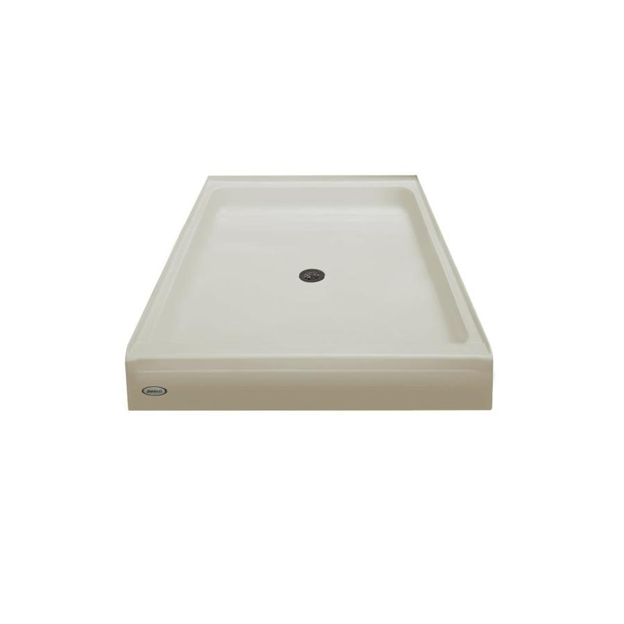 Jacuzzi Primo Almond Acrylic Shower Base (Common: 48-in W x 42-in L; Actual: 48-in W x 42-in L)