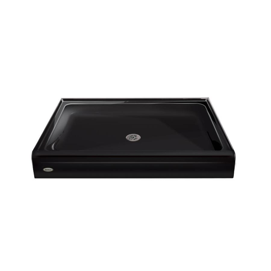 Jacuzzi PRIMO Black Acrylic Shower Base (Common: 34-in W x 48-in L; Actual: 34-in W x 48-in L) with Center Drain