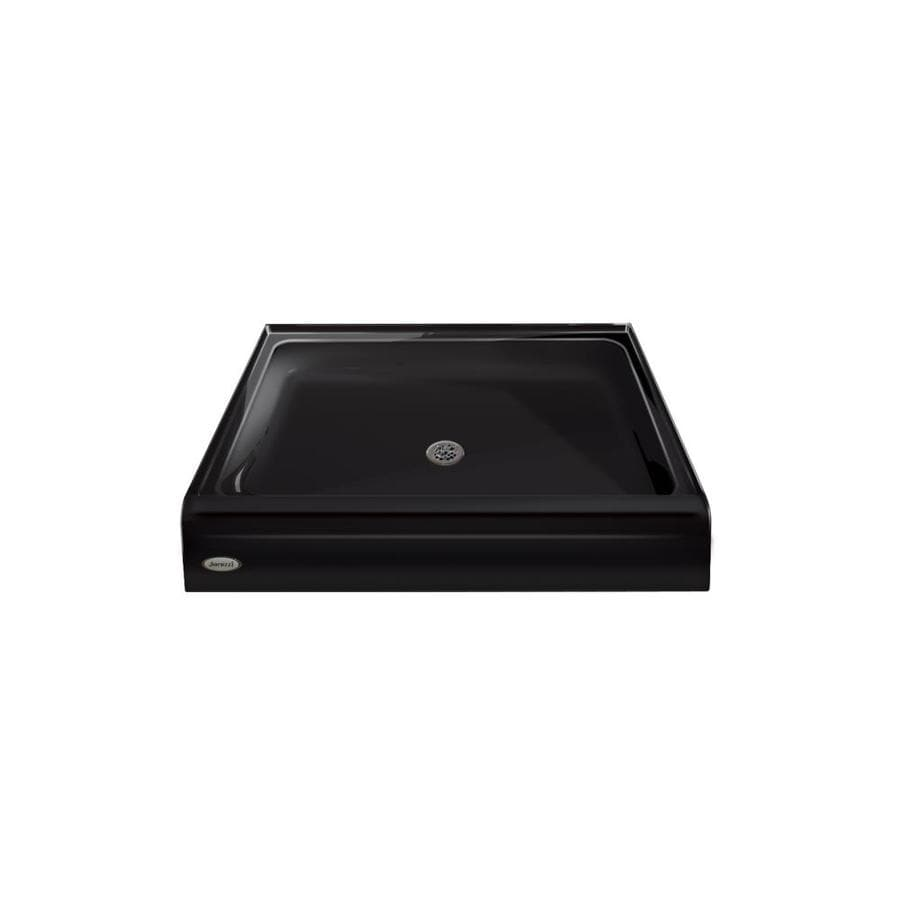 Jacuzzi Primo Black Acrylic Shower Base (Common: 48-in W x 48-in L; Actual: 48-in W x 48-in L)