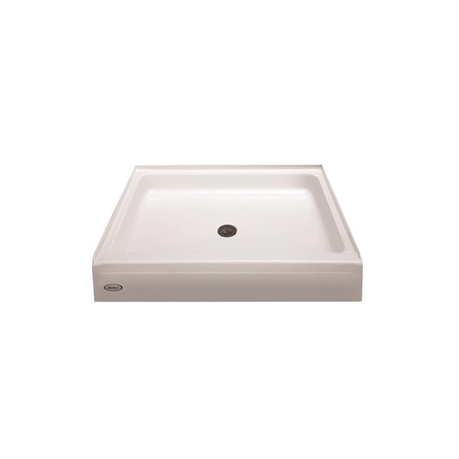 Shop Jacuzzi PRIMO White Acrylic Shower Base (Common: 48-in W x 48 ...