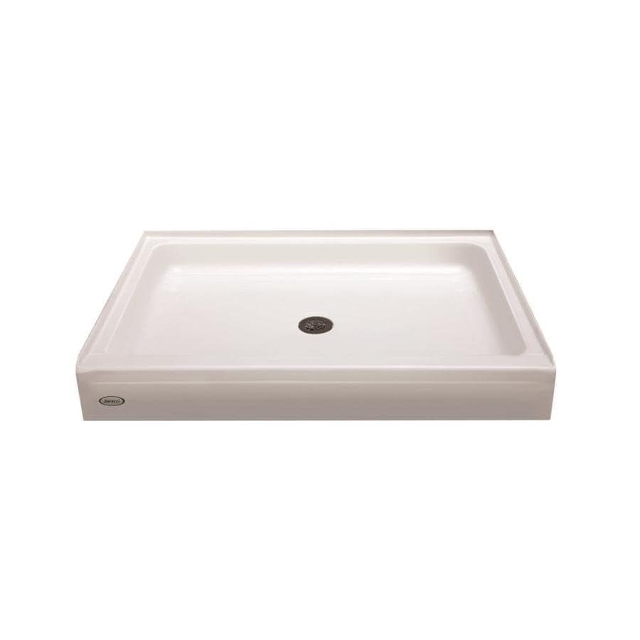 Jacuzzi PRIMO White Acrylic Shower Base (Common: 36-in W x 60-in L; Actual: 36-in W x 60-in L) with Center Drain