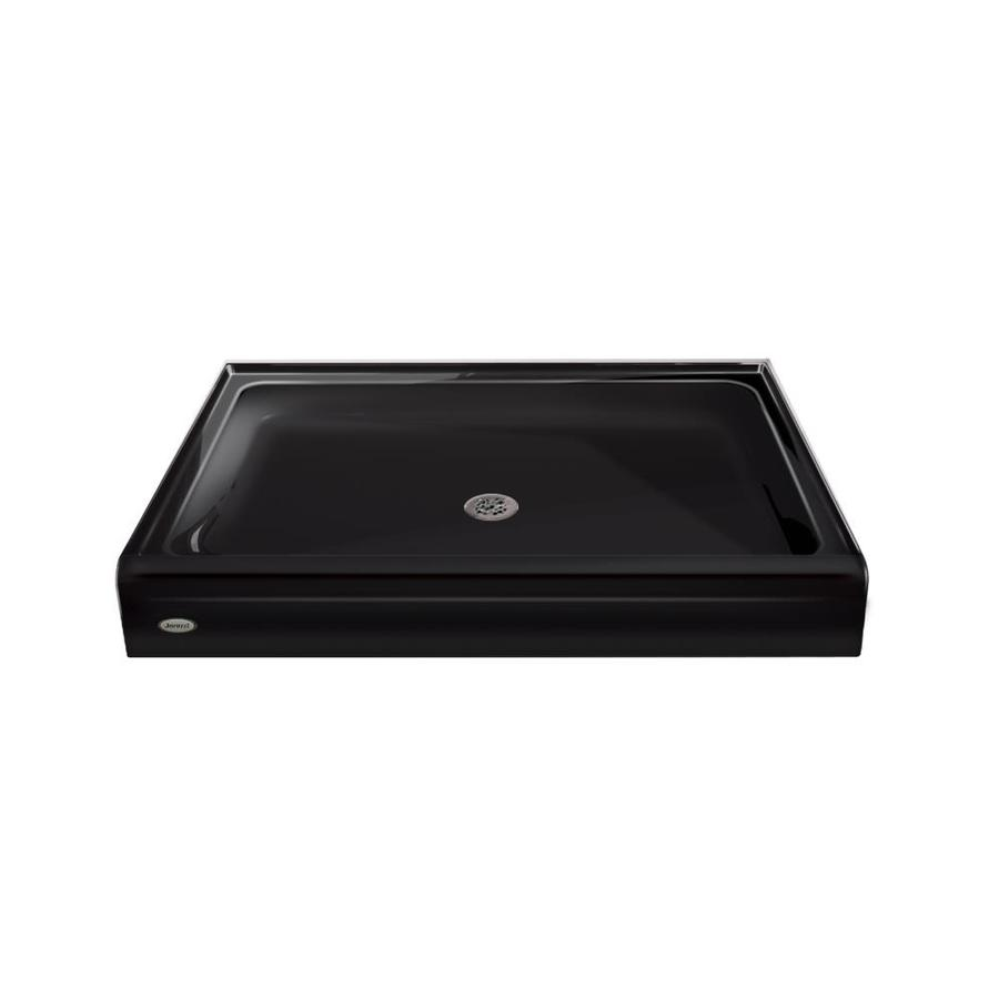 Jacuzzi Primo Black Acrylic Shower Base (Common: 42-in W x 60-in L; Actual: 42-in W x 60-in L)