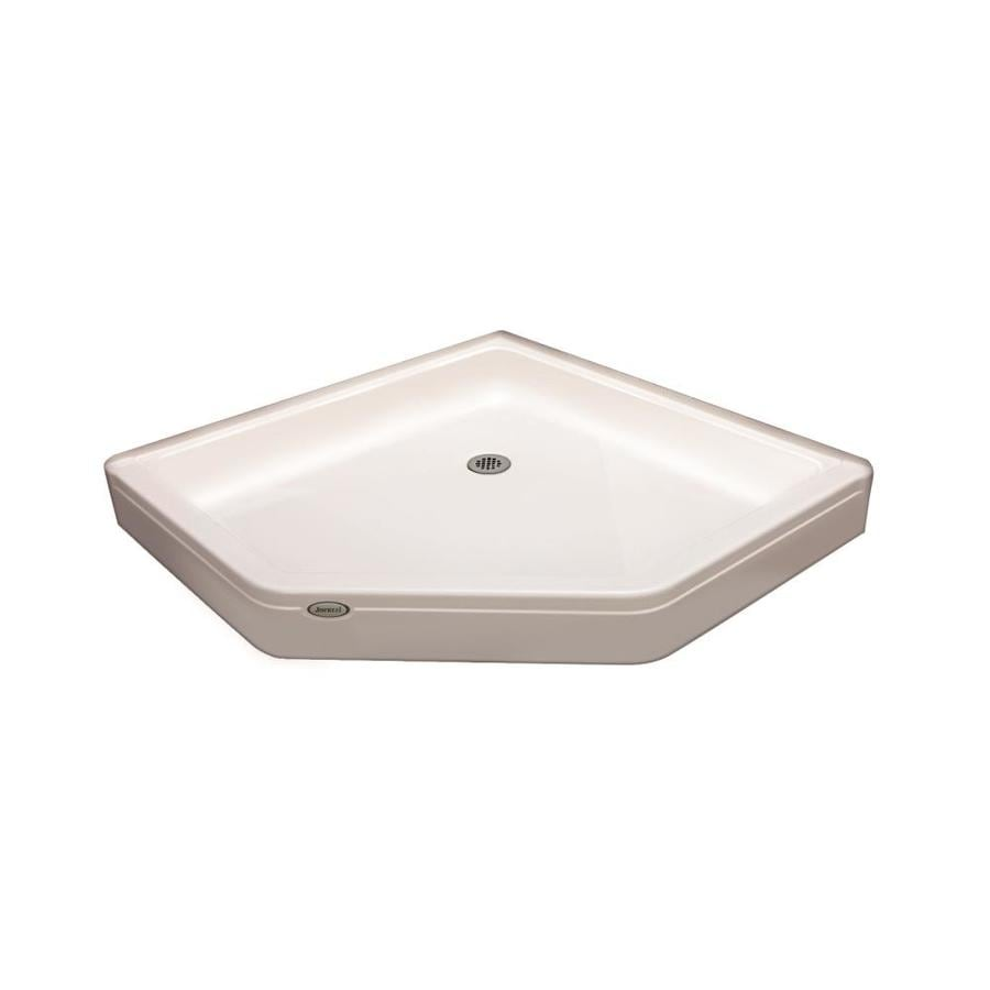 Jacuzzi PRIMO White Acrylic Shower Base (Common: 38-in W x 38-in L; Actual: 38-in W x 38-in L) with Center Drain