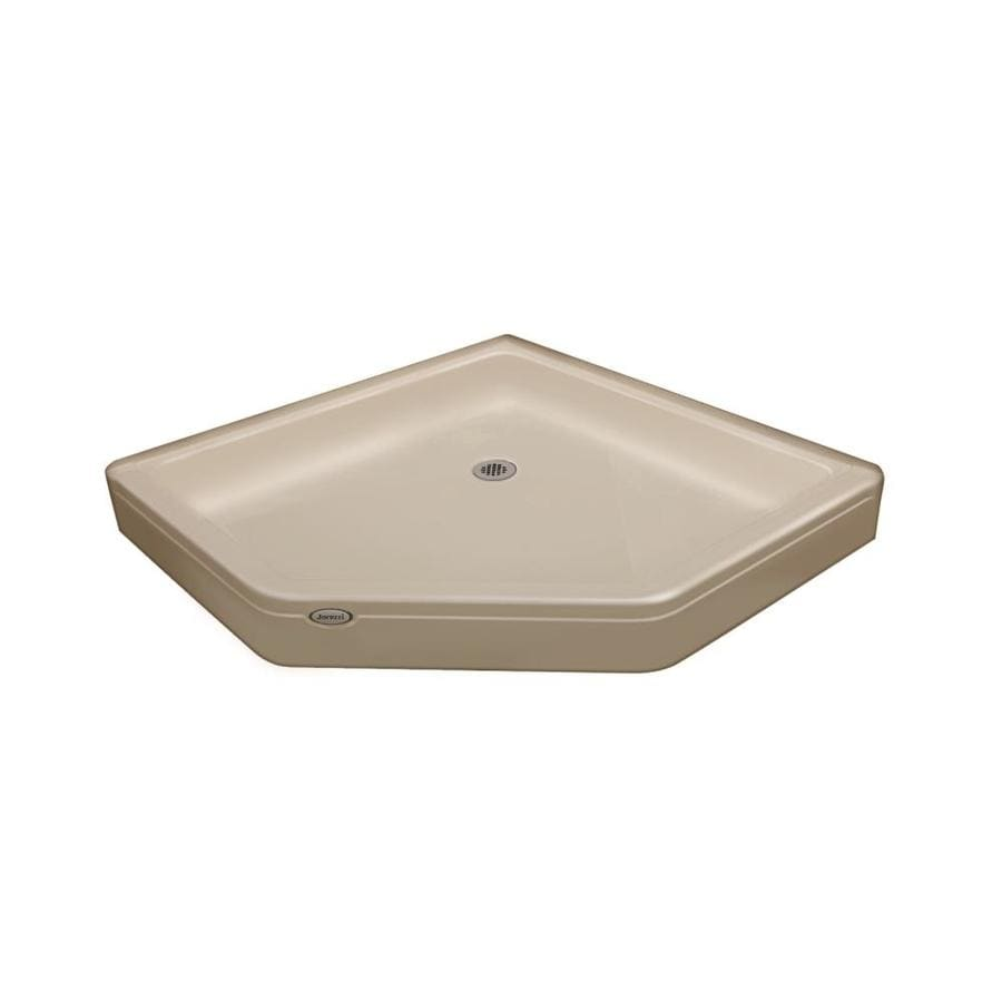 Jacuzzi Primo Almond Acrylic Shower Base (Common: 48-in W x 48-in L; Actual: 48-in W x 48-in L)