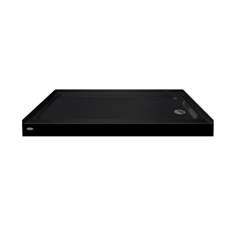 Jacuzzi PRIMO Black Acrylic Shower Base (Common: 30-in W x 60-in L; Actual: 30-in W x 60-in L)