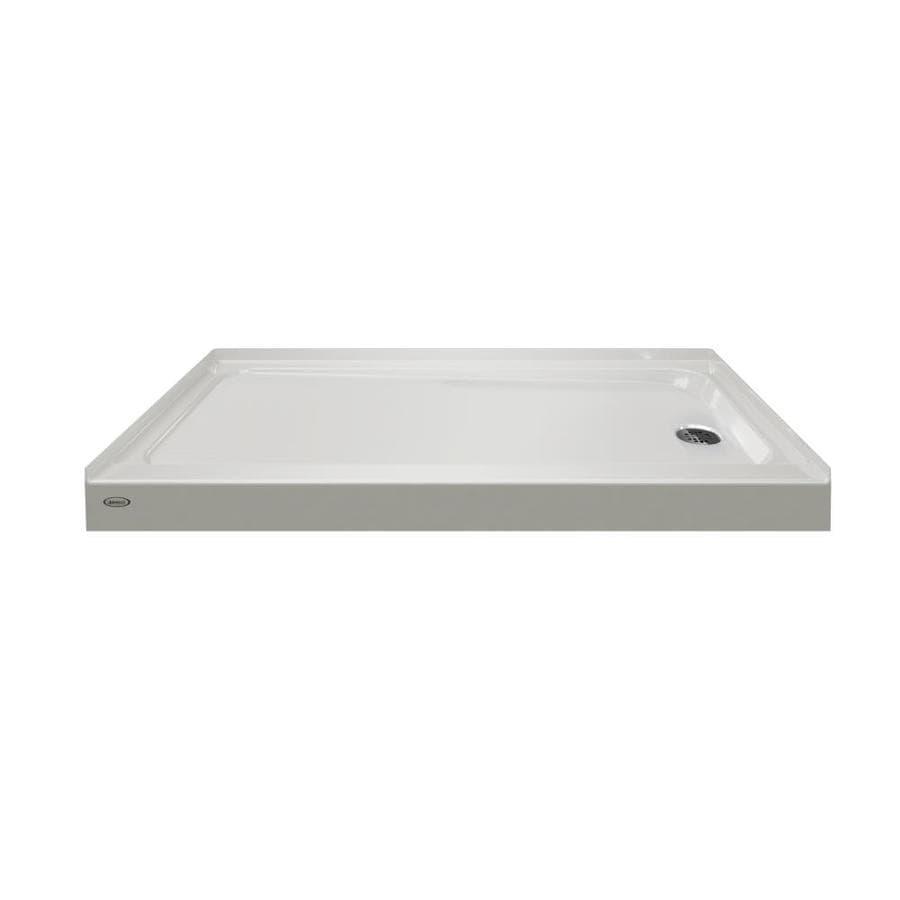 Jacuzzi PRIMO Oyster Acrylic Shower Base (Common: 32-in W x 60-in L; Actual: 32-in W x 60-in L) with Right Drain