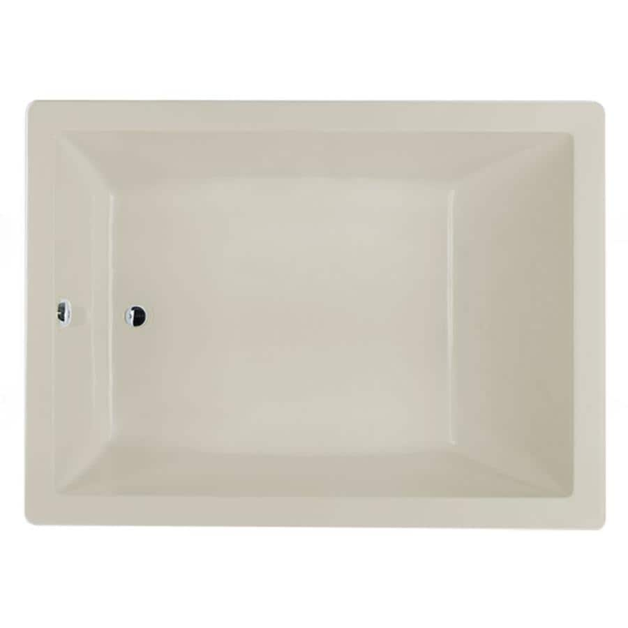 Jacuzzi Sol60-in Oyster Acrylic Bathtub with Reversible Drain
