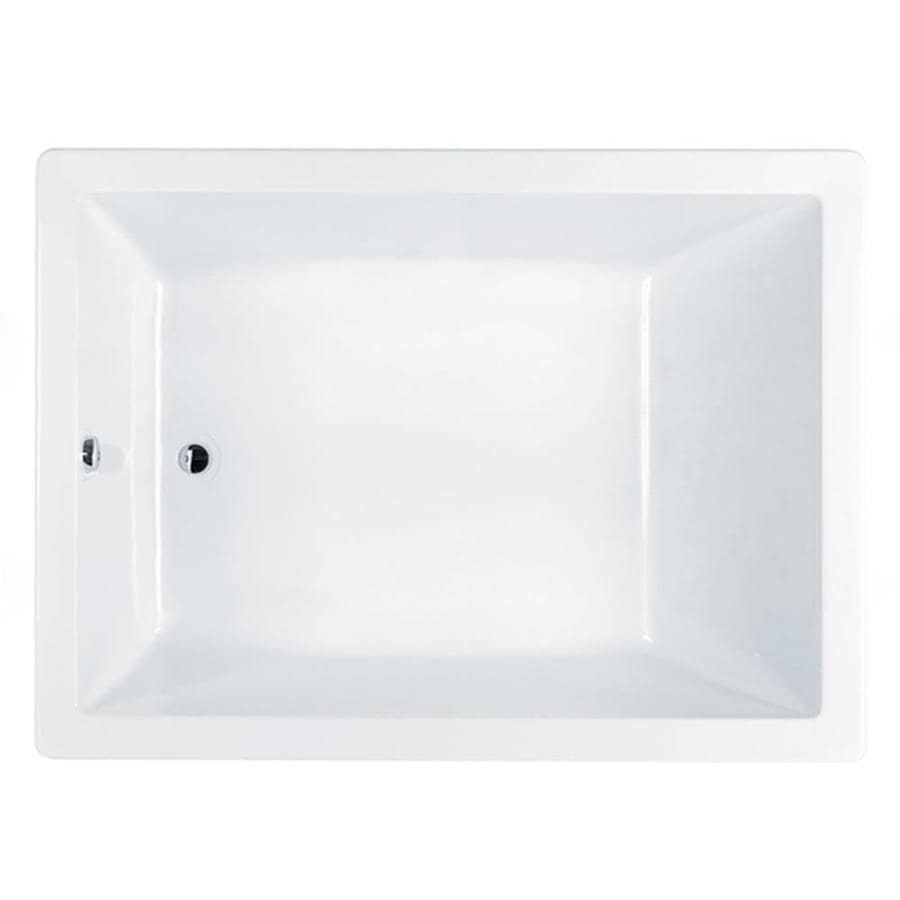 Jacuzzi Solna White Acrylic Rectangular Drop-In Bathtub with Reversible Drain (Common: 42-in x 60-in; Actual: 26-in x 42-in x 60-in)