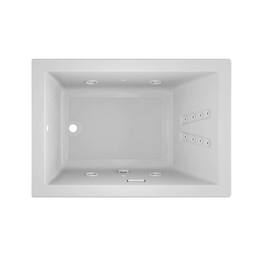 Jacuzzi Solna White Acrylic Rectangular Whirlpool Tub (Common: 42-in x 60-in; Actual: 26-in x 42-in x 60-in)