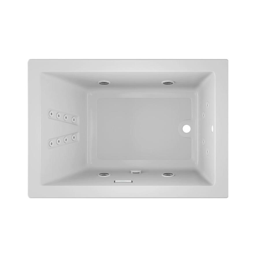 Jacuzzi Solna 60-in White Acrylic Drop-In Whirlpool Tub with Reversible Drain
