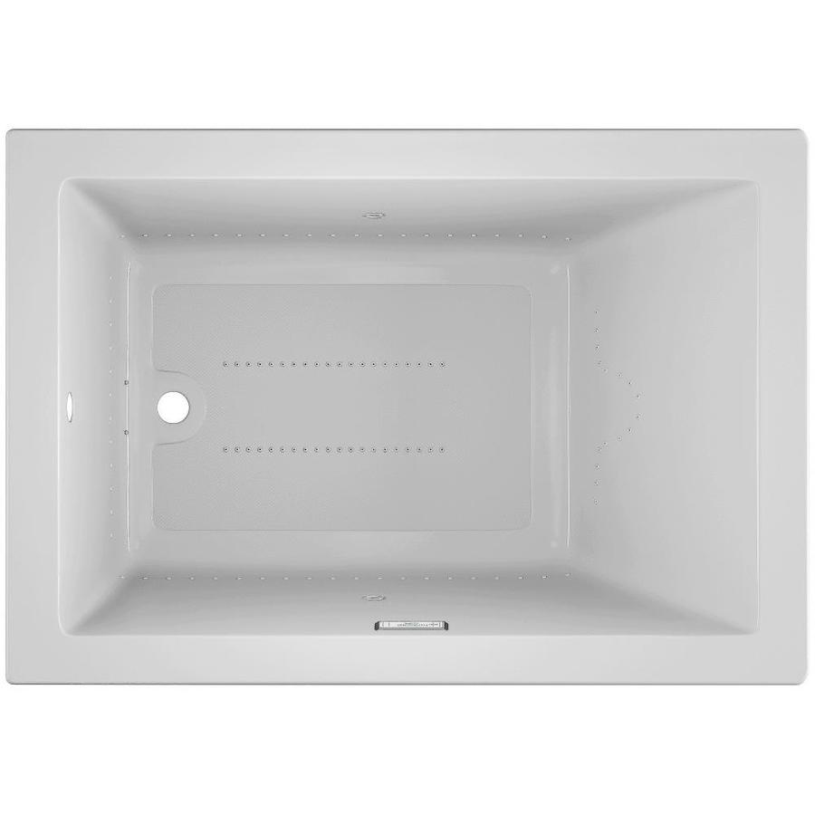 Jacuzzi Solna 60-in White Acrylic Drop-In Air Bath with Reversible Drain