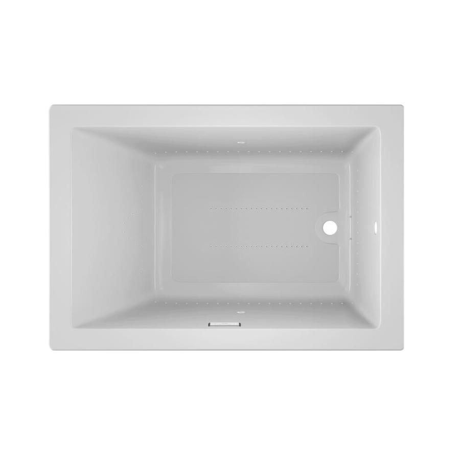Jacuzzi Sol60-in White Acrylic Drop-In Air Bath with Reversible Drain