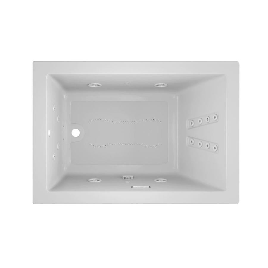 Jacuzzi Solna 60-in White Acrylic Drop-In Whirlpool Tub And Air Bath with Reversible Drain