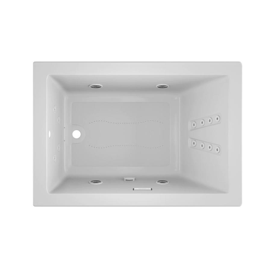 Jacuzzi Sol60-in White Acrylic Drop-In Whirlpool Tub And Air Bath with Reversible Drain