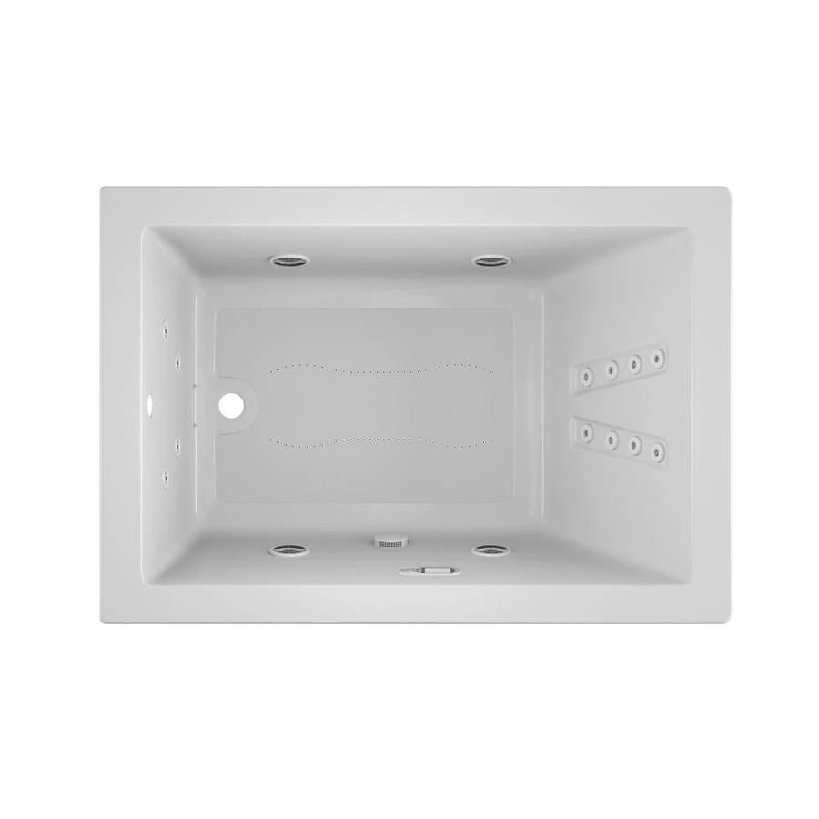 Jacuzzi Solna 60-in L x 42-in W x 26-in H White Acrylic Rectangular Whirlpool Tub and Air Bath