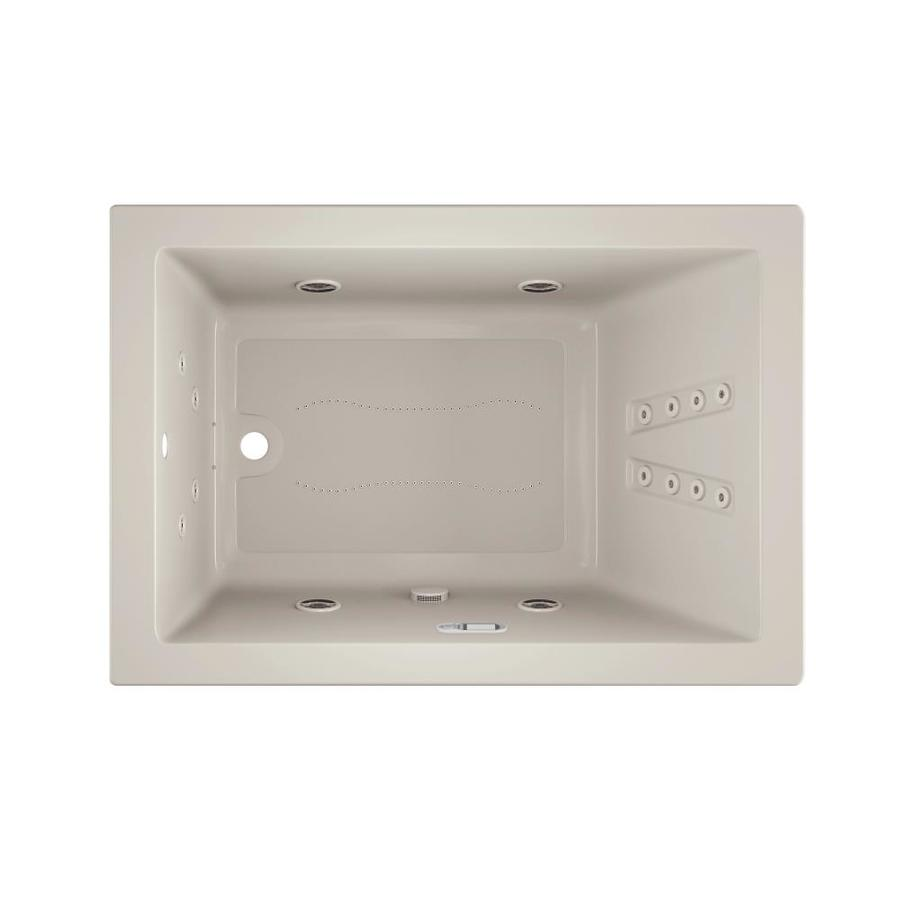 Shop Jacuzzi Sol60-in Off-White Acrylic Rectangular Reversible Drain ...