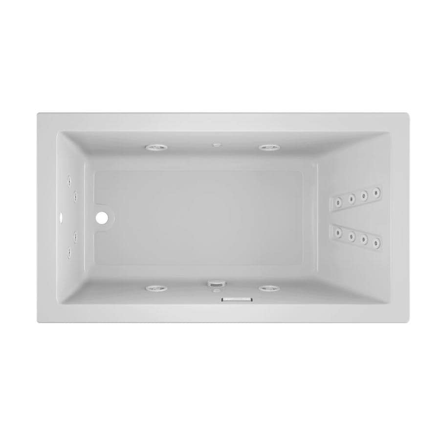 Shop Jacuzzi Solna 66-in White Acrylic Drop-In Whirlpool Tub with ...