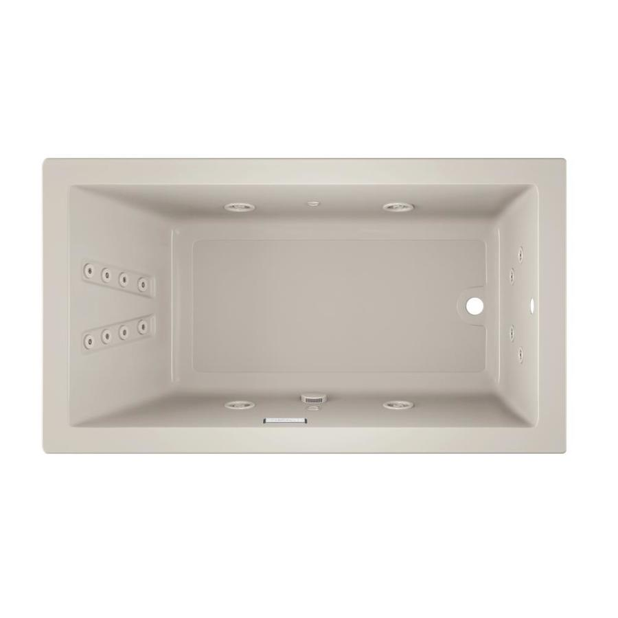 Jacuzzi Solna Oyster Acrylic Rectangular Whirlpool Tub (Common: 36-in x 66-in; Actual: 26-in x 36-in x 66-in)
