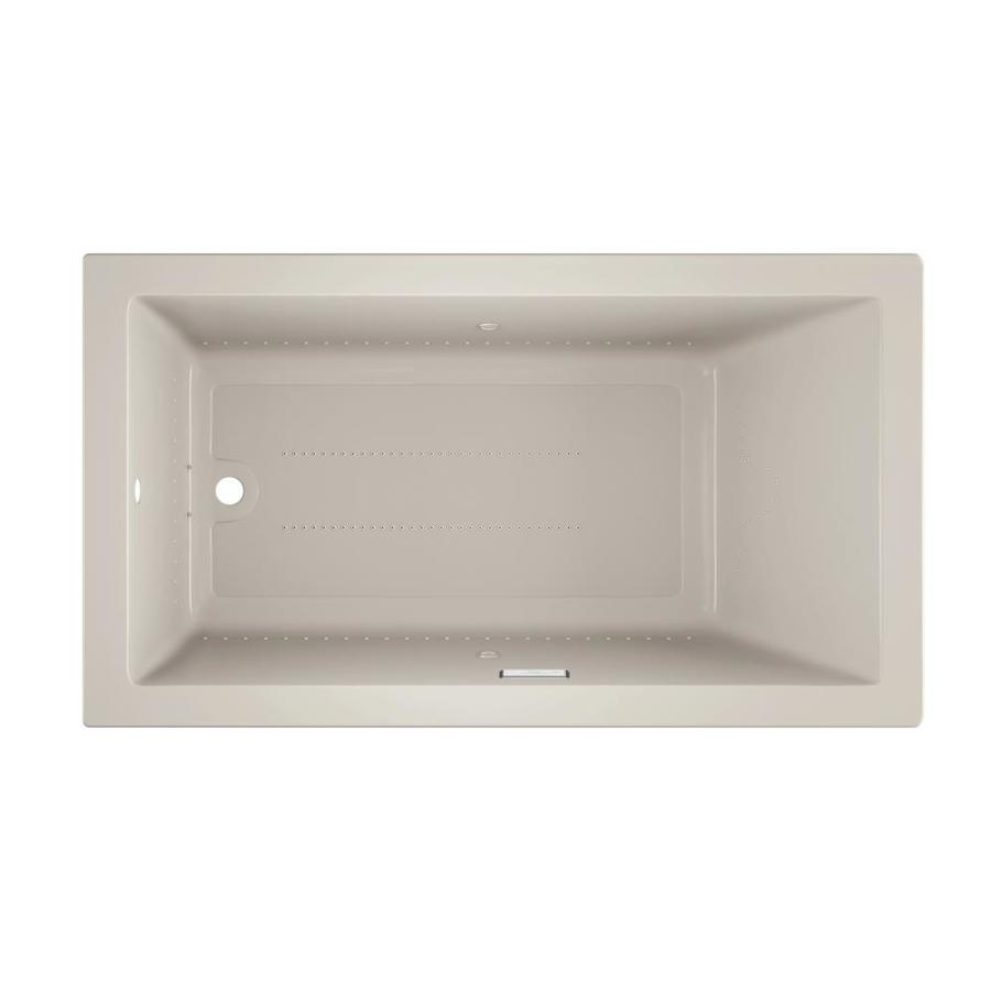 Jacuzzi Solna 66-in Oyster Acrylic Drop-In Air Bath with Reversible Drain