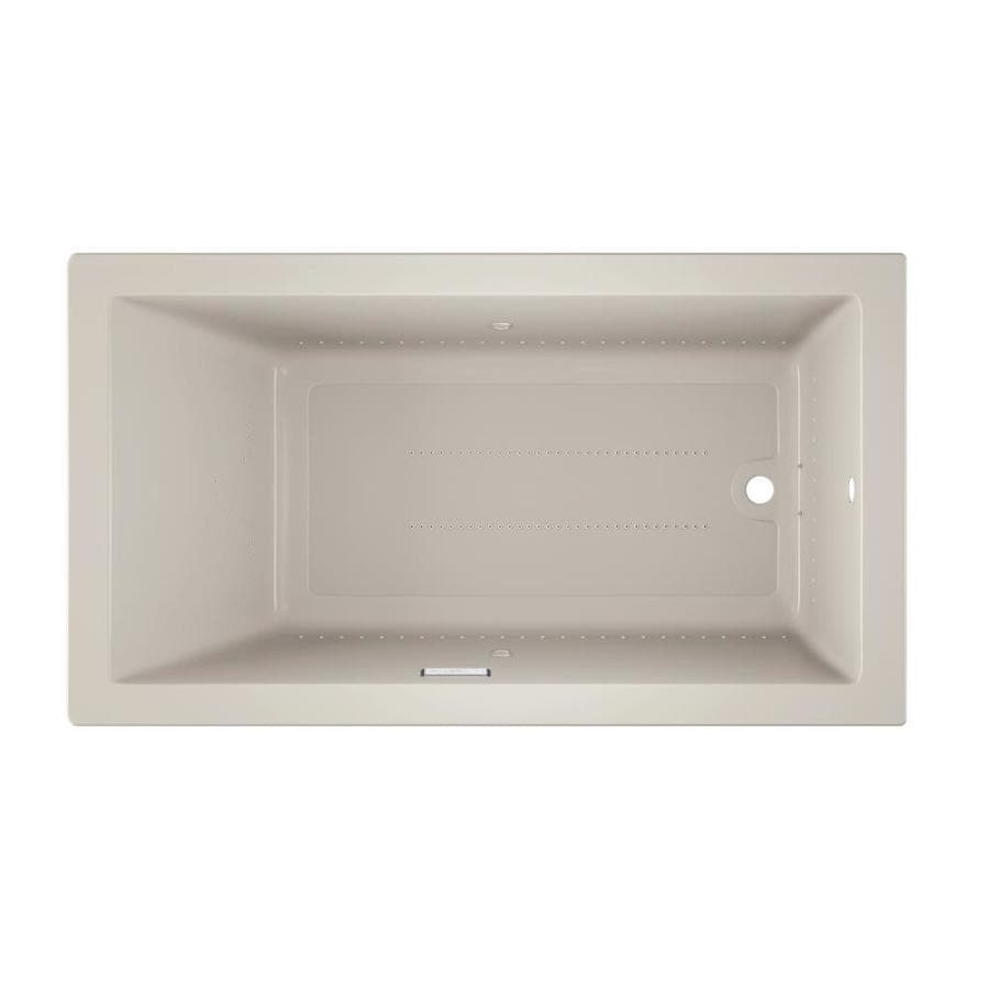 Jacuzzi Solna 66-in L x 36-in W x 26-in H Oyster Acrylic Rectangular Drop-in Air Bath