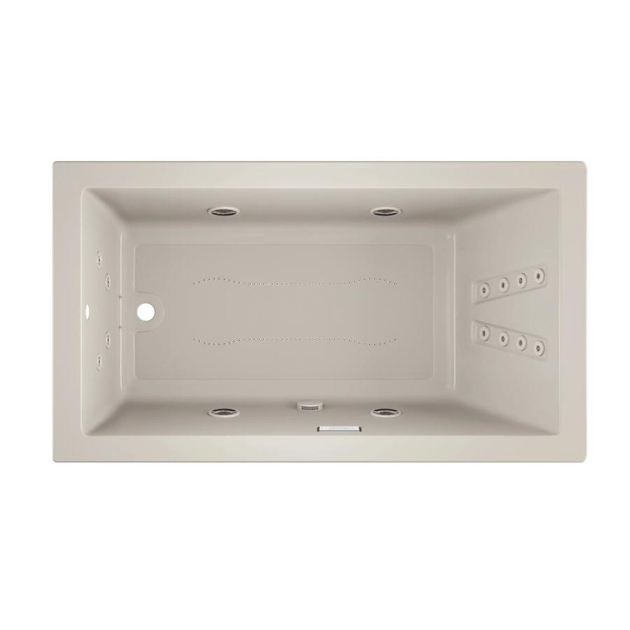 Jacuzzi Solna 66-in Oyster Acrylic Drop-In Whirlpool Tub And Air Bath with Reversible Drain