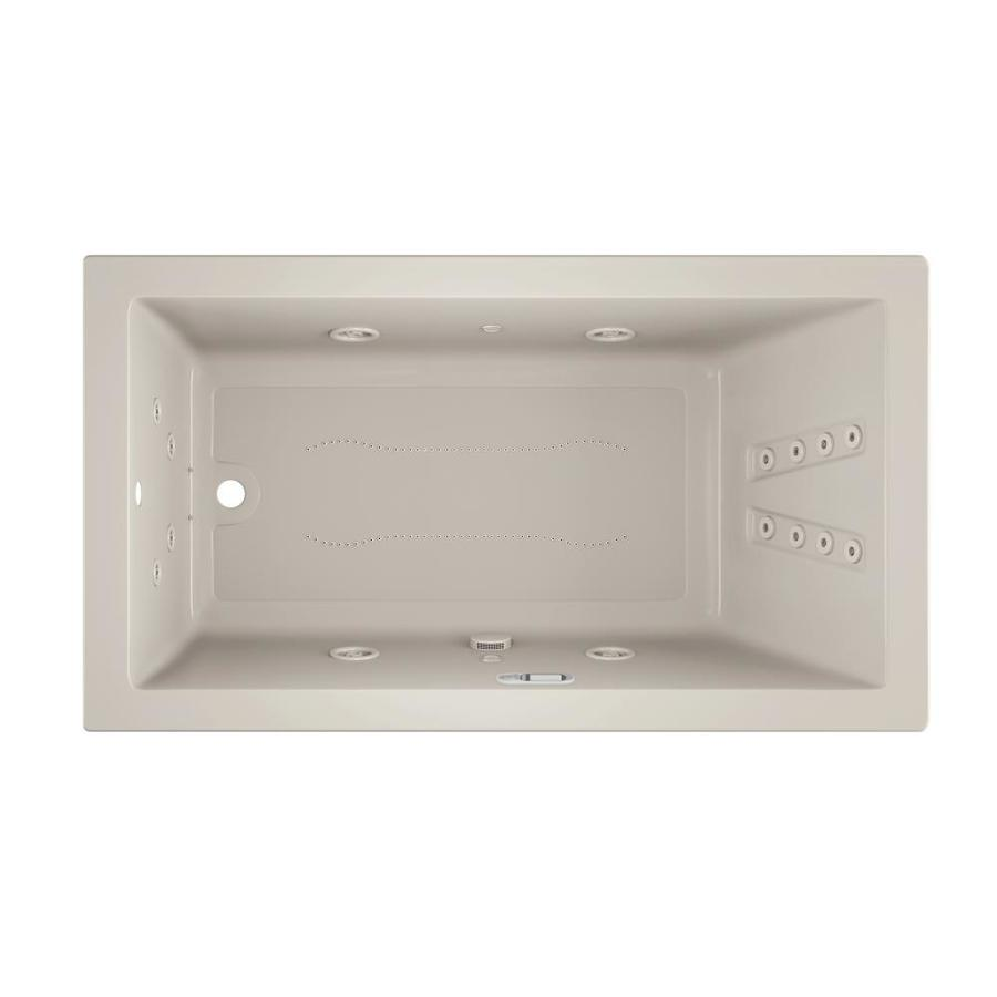 Jacuzzi Solna 66-in L x 36-in W x 26-in H Oyster Acrylic Rectangular Whirlpool Tub and Air Bath