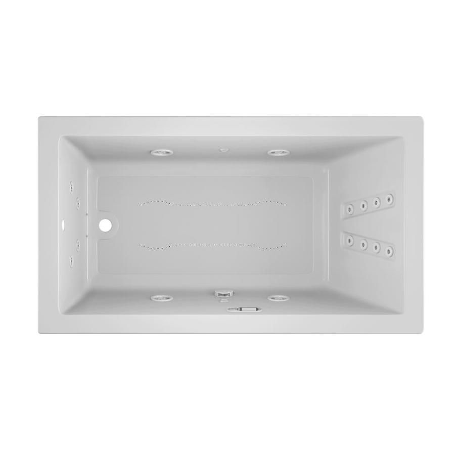 Jacuzzi Sol66-in White Acrylic Drop-In Whirlpool Tub And Air Bath with Reversible Drain