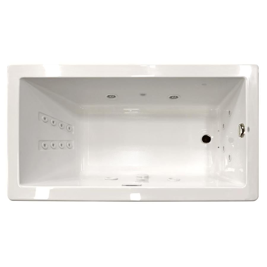 Jacuzzi Solna 72-in White Acrylic Drop-In Whirlpool Tub with Reversible Drain