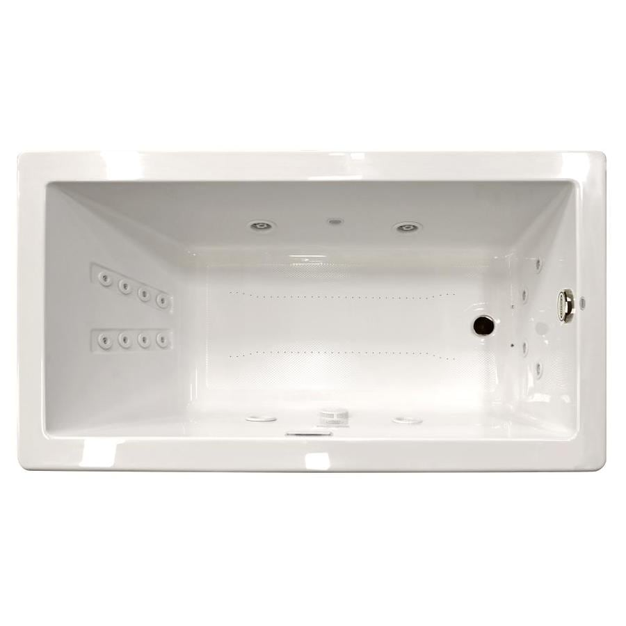 Jacuzzi Solna 72-in White Acrylic Drop-In Whirlpool Tub and Air Bath with Reversible Drain