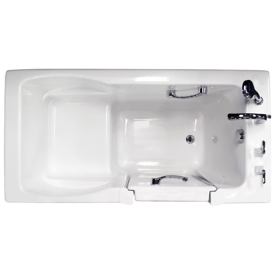 Ristorre 60-in White Acrylic Bathtub with Front Center Drain