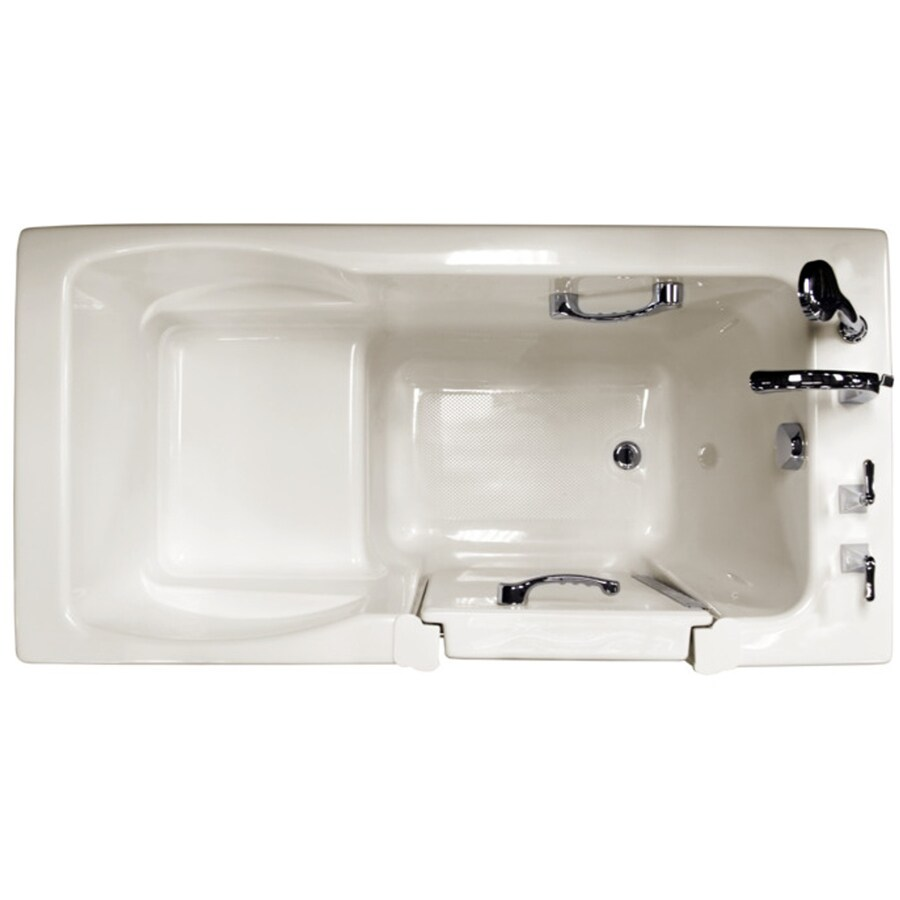 Ristorre 60-in Oyster Acrylic Bathtub with Front Center Drain