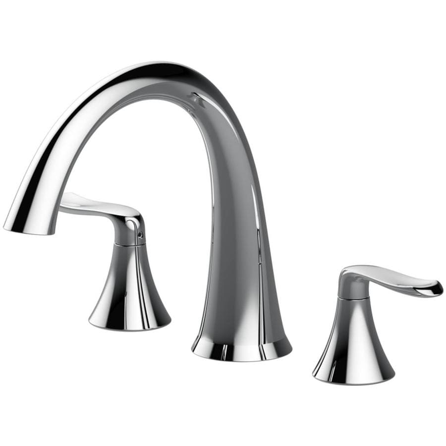 Jacuzzi Piccolo Chrome 2-Handle Fixed Deck Mount Bathtub Faucet