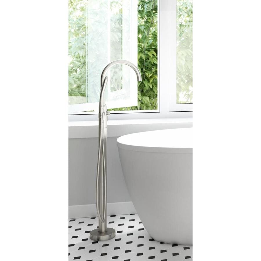 Jacuzzi Primo Brushed Nickel 1 Handle Freestanding Bathtub Faucet