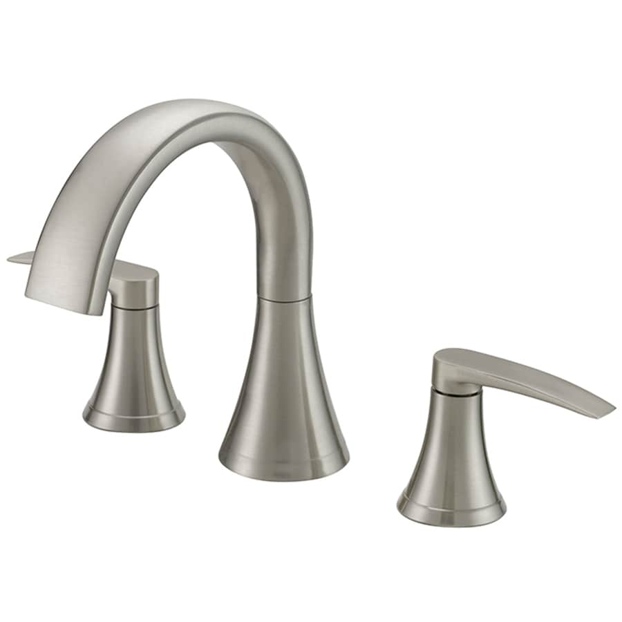 Shop Jacuzzi Lyndsay Brushed Nickel 2 Handle Deck Mount Bathtub Faucet At