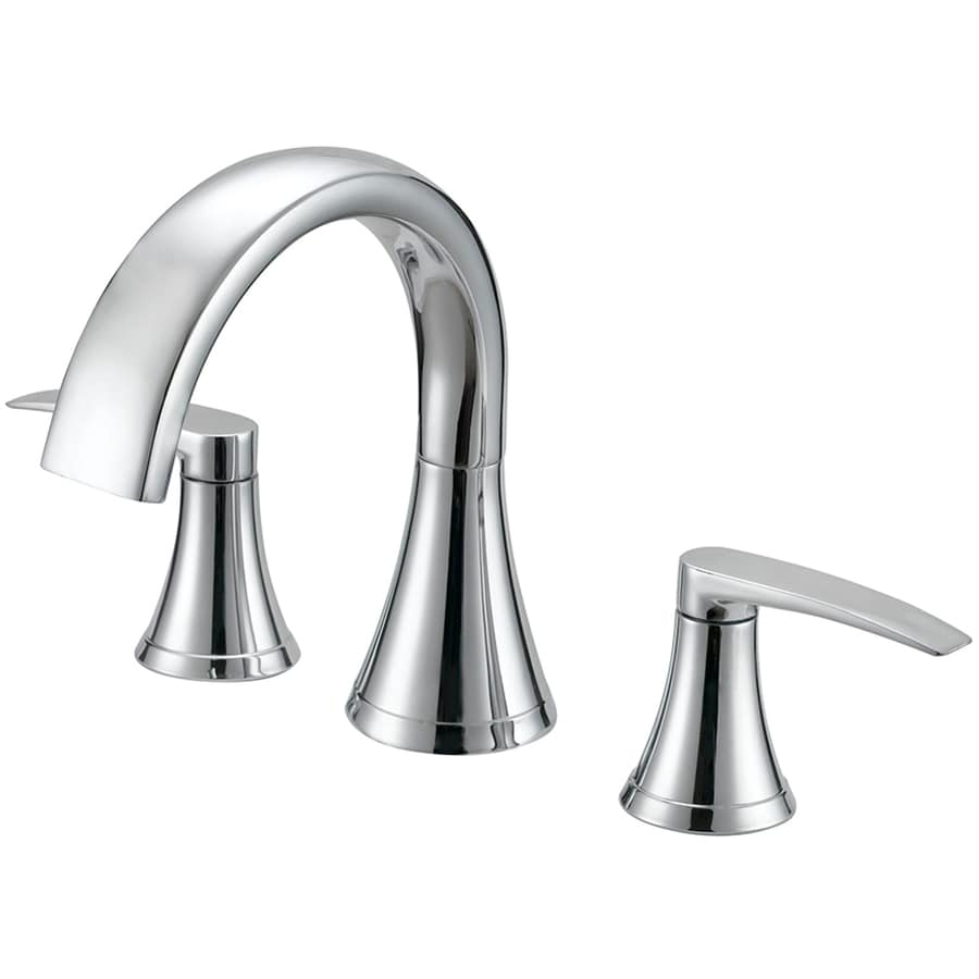 Jacuzzi Lyndsay Polished Chrome 2-Handle Fixed Deck Mount Bathtub Faucet
