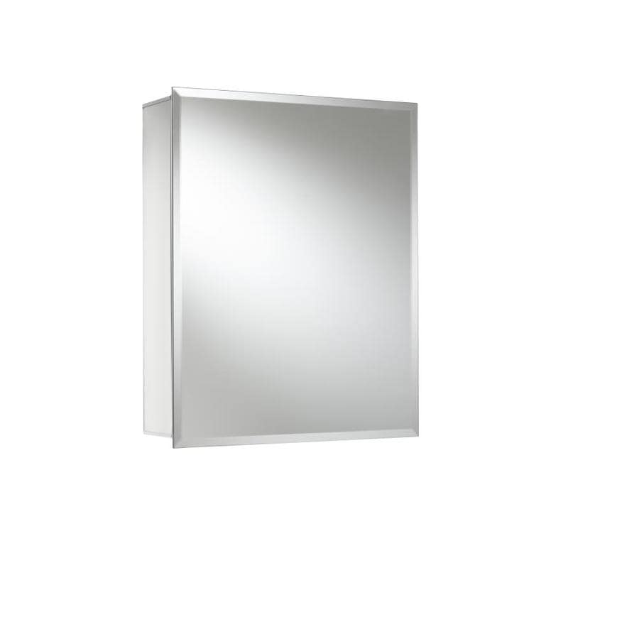 Jacuzzi 16-in x 20-in Rectangle Surface/Recessed Mirrored Aluminum Medicine Cabinet