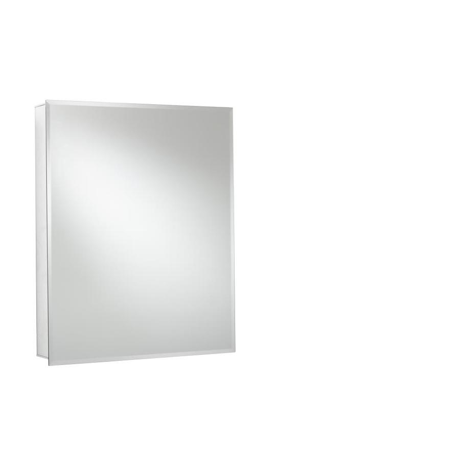 Jacuzzi 20-in x 26-in Rectangle Surface/Recessed Mirrored Aluminum Medicine Cabinet
