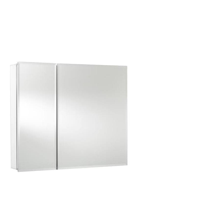 Jacuzzi 30-in x 26-in Rectangle Surface/Recessed Mirrored Aluminum Medicine Cabinet