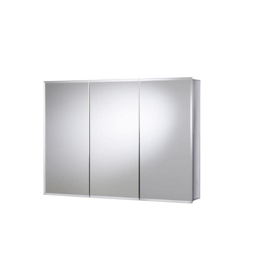 Jacuzzi 36-in x 26-in Rectangle Surface/Recessed Mirrored Aluminum Medicine Cabinet