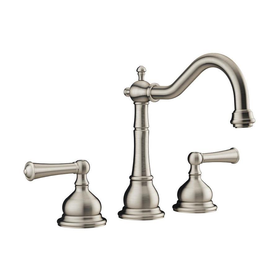 Jacuzzi Barrea Brushed Nickel 2-Handle Fixed Deck Mount Bathtub Faucet