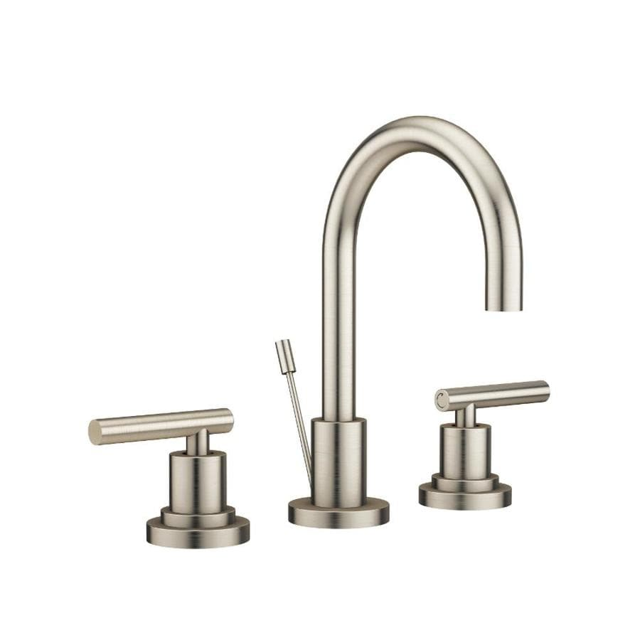 Jacuzzi Salone Brushed Nickel 2-Handle Widespread Commercial Bathroom Faucet
