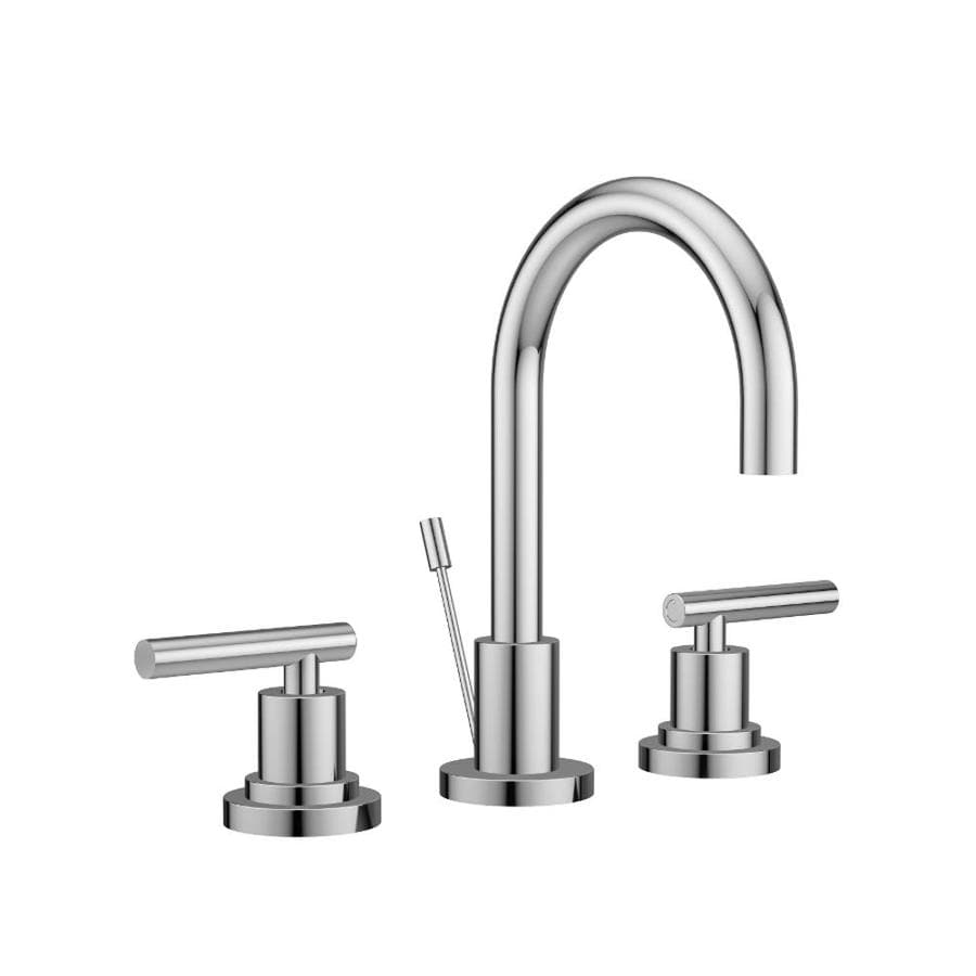 Jacuzzi Salone Polished Chrome 2-Handle Widespread Commercial Bathroom Faucet