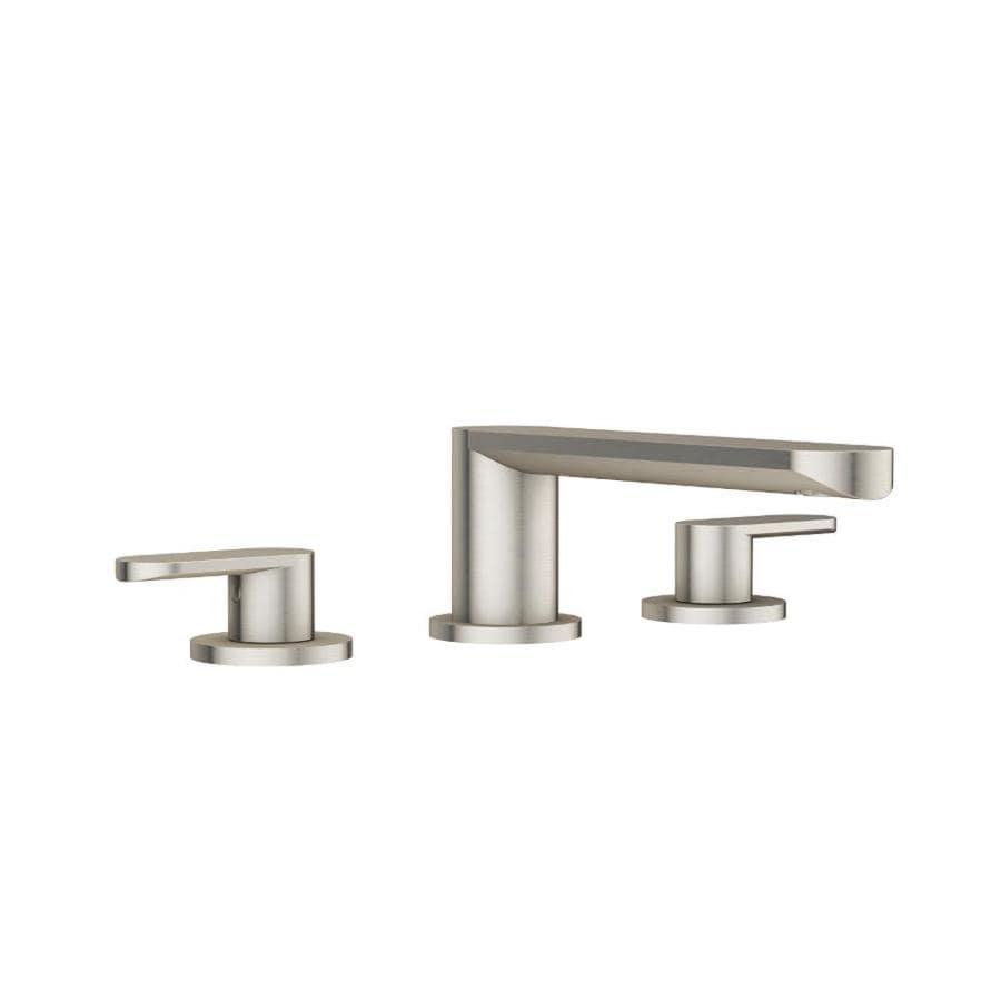 Jacuzzi Razzo Brushed Nickel 2-Handle Fixed Deck Mount Bathtub Faucet